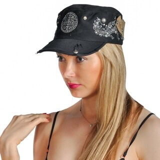Dream Control Rhinestoned Embroidered Patch Baseball Adjustable Cap Black