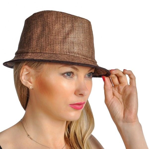 15975c8d856527 Shop Dream Control Straw Mesh Woven Stingy Beam Hats Coffee - On ...
