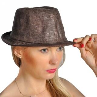 Dream Control Straw Mesh Woven Stingy Beam Hats Brown