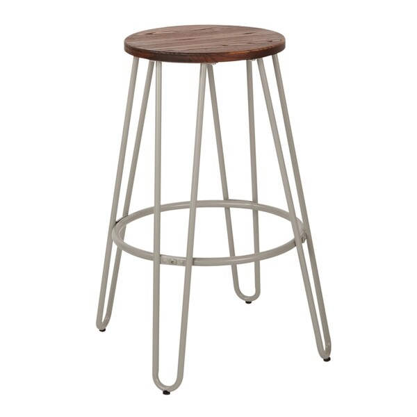 OSP Designs Ashville 26 inch Counter Stools with Wood Seat, 2 pack