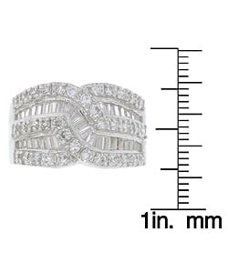 Sterling Essentials Sterling Silver Baguette Cubic Zirconia Ring