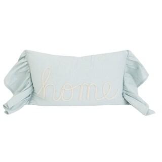 12x20 Heerviana Home Script Faux Linen Pillow