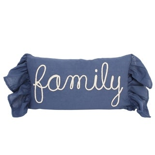 12x20 Frema Family Rope Script Pillow