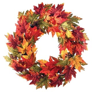 26 Inch Harvest Maple Leaf Wreath