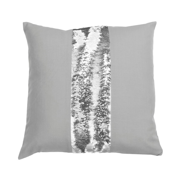 20x20 Bolton Stripe Mermaid Reversible Sequin Pillow