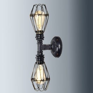 Industrial Wire Cage Wall Sconce Metal Wall Lamp Light Fixture for Bathroom, Oil Rubbed Bronze