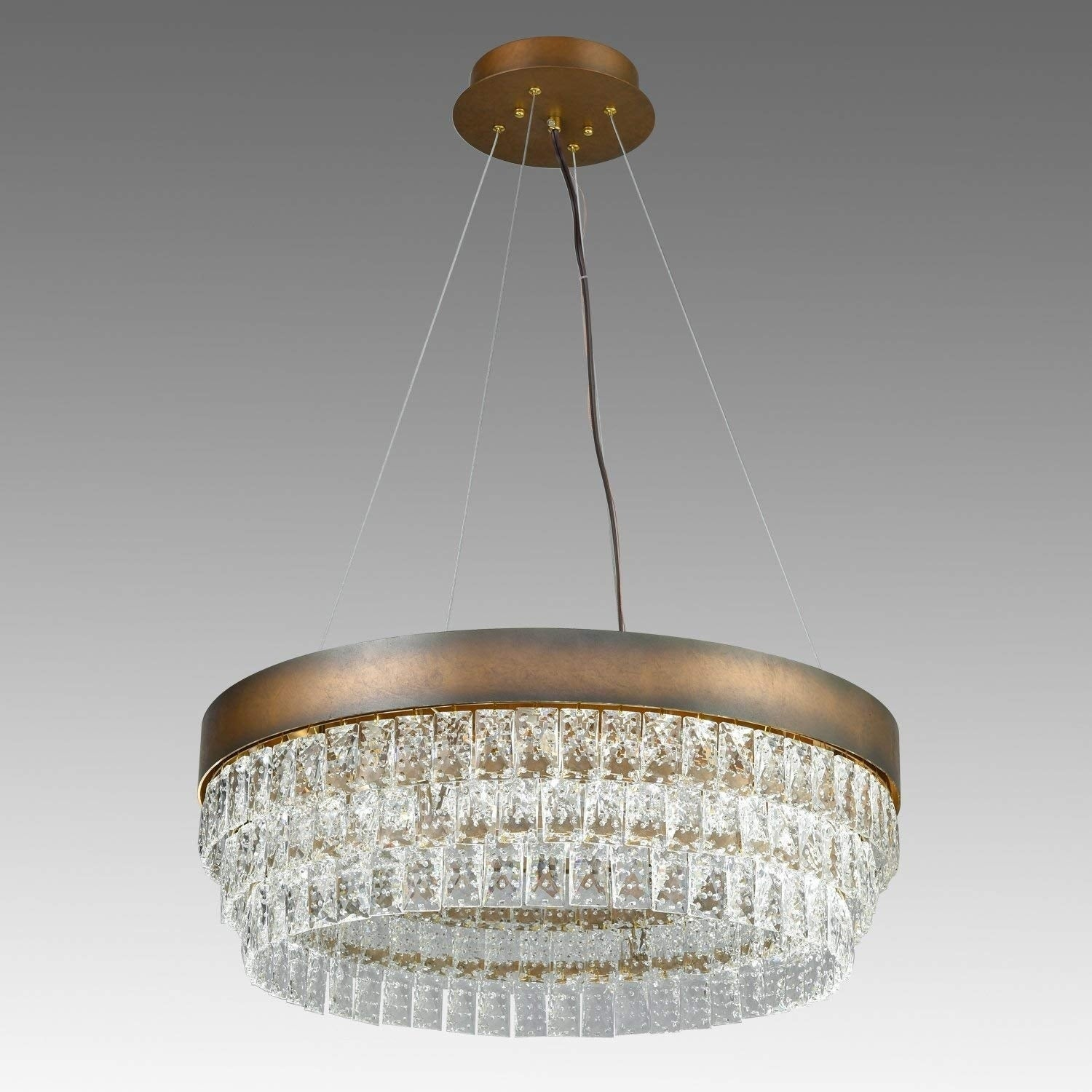Crystal Halo Chandelier Modern