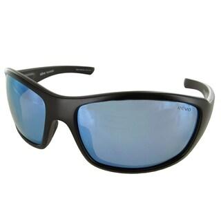 Revo Mens 4057X Bearing Cruze Polarized Sunglasses, Matte Black/Blue Water