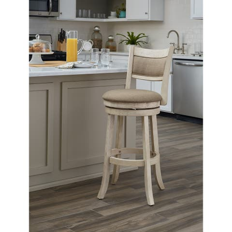 The Gray Barn McNiven 30-inch Swivel Stool with Solid Back