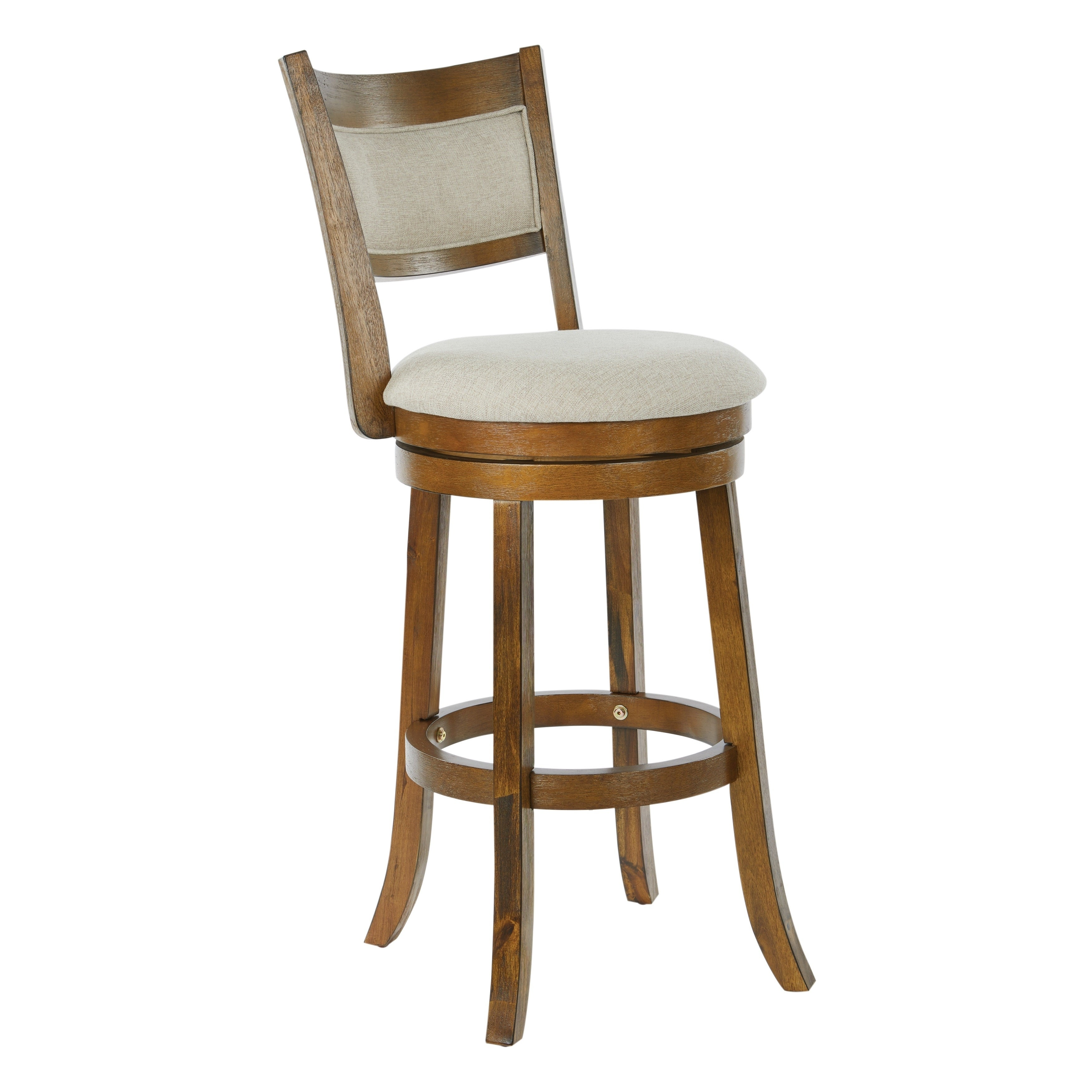 Osp Home Furnishings Metro 30 Inch Swivel Stool With Solid Back