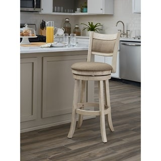 OSP Designs Metro 30 inch Swivel Stool with Solid Back