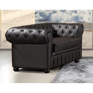 Genuine Leather Chesterfield Style Loveseat - Avignon