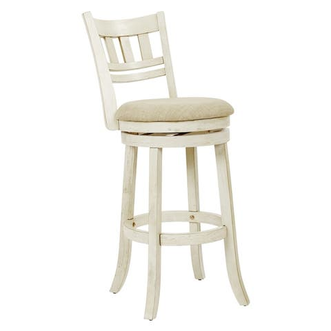 The Gray Barn McNiven 30-inch Swivel Stool with Slatted Back