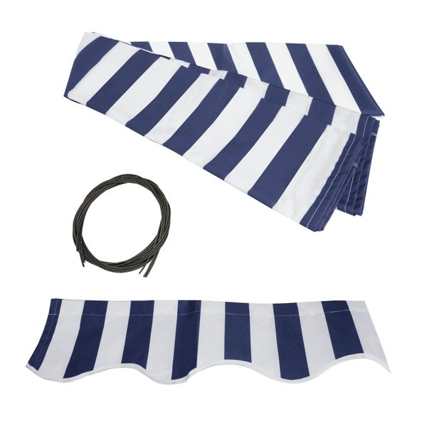 ALEKO Fabric Replacement For 8x6.5 Ft Retractable Awning Blue Color