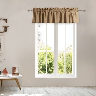 Greenland Home Burlap Natural-Color Window Valance