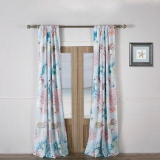 Link to Barefoot Bungalow Sarasota Coastal Curtain Panel Pair with Tiebacks Similar Items in Window Treatments