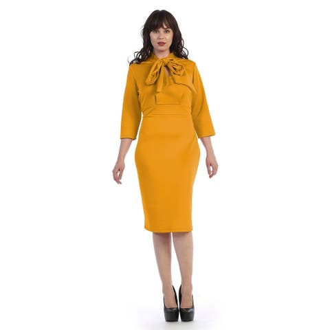 Plus size ankle length dress with scarf attched (size-2x)