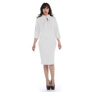 Plus size ankle length dress with scarf attched (size-3x)