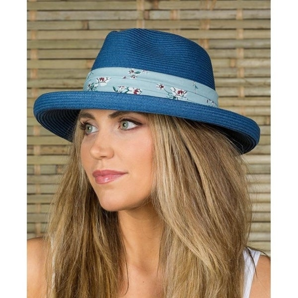 110bee794 Shop Hatch Roll-Up Sun Summer Poly Braid Women's Fedora Hat - Free Shipping  On Orders Over $45 - Overstock - 21827680