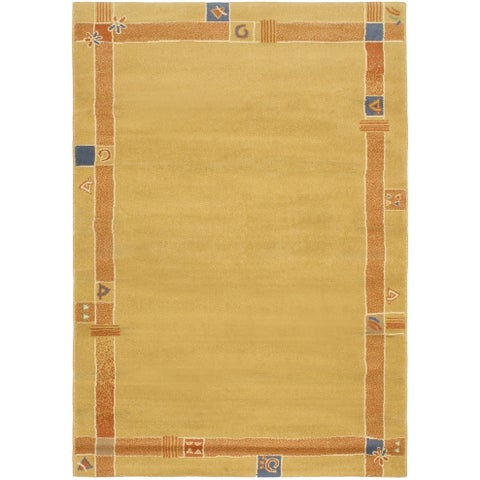 eCarpetGallery Machine Woven Lotus Mod Light Brown Polypropylene Rug - 5'3 x 7'6