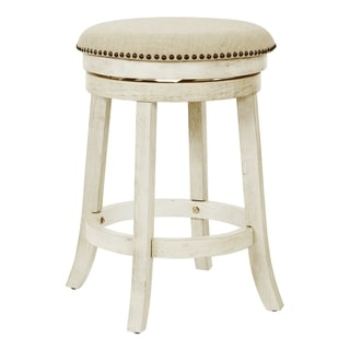 OSP Home Furnishings Metro 26 inch Backless Swivel Stools in Antique Grey - 2 Pack (As Is Item)