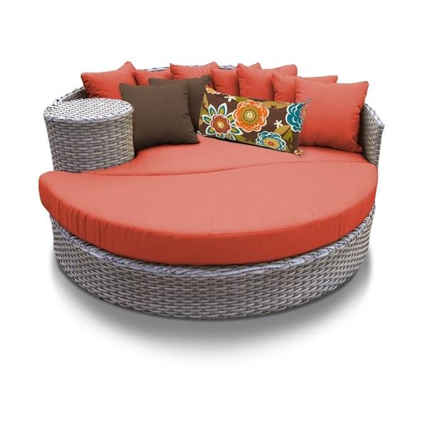 Sensational Shop Oasis Circular Sun Bed Outdoor Wicker Patio Furniture Download Free Architecture Designs Embacsunscenecom