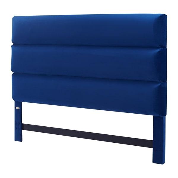 Tommy Hilfiger Sutton King Size Navy Blue Velvet Upholstered Headboard