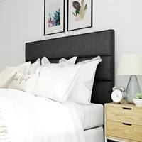 Serta Palisades Upholstered Charcoal Grey Queen Size Headboard