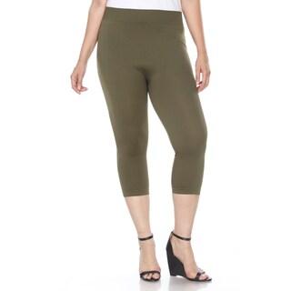White Mark Plus Size Super Soft Capri Leggings
