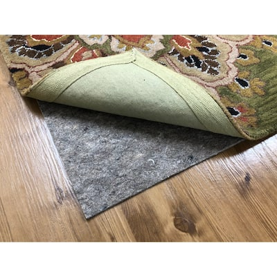 Special Grip Rubber Back Felted Non-skid Padding for Area Rugs - Grey