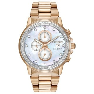 Citizen Unisex Eco-Drive Crystal Accented Watch
