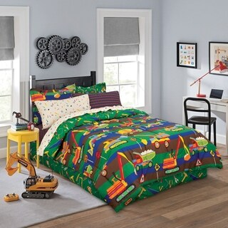 Tylers Construction Zone Bed in a Bag Bedding Set with Bonus Bed Skirt