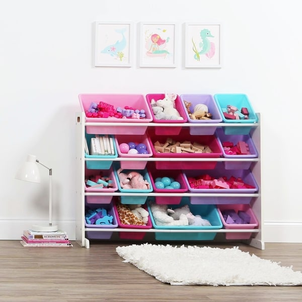 A Ton Of Rooms With Colorful Toys: Shop Tot Tutors White/Pastel Super-Sized Kids Toy Storage