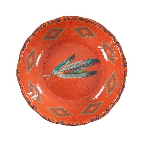 HiEnd Accents Feather Design Melamine Serving Bowl, 1 pc