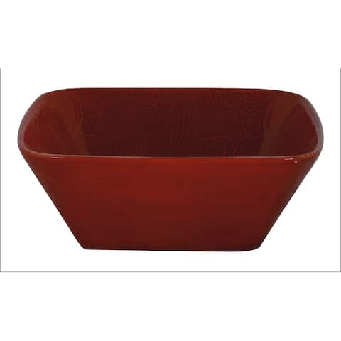 HiEnd Accents Savannah Serving Bowl, Red