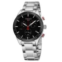 Tissot Men's T100.417.11.051.01 'PRS 516' Black Dial Stainless Steel Chronograph Swiss Quartz Watch