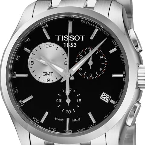 Tissot Men's T035.439.11.051.00 'Couturier' Black Dial Stainless Steel Chronograph Swiss Quartz Watch