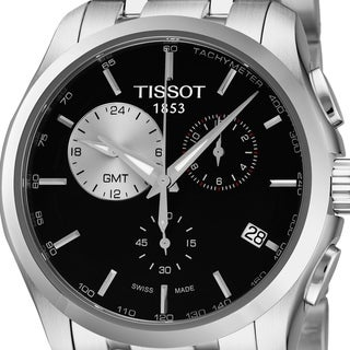 Link to Tissot Men's T035.439.11.051.00 'Couturier' Black Dial Stainless Steel Chronograph Swiss Quartz Watch Similar Items in Men's Watches