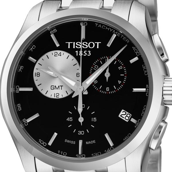 Shop Tissot Men s T035.439.11.051.00  Couturier  Black Dial ... 2854be2611b