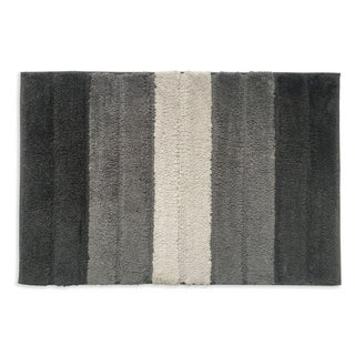 Lino Stripe Grey Bath Mat