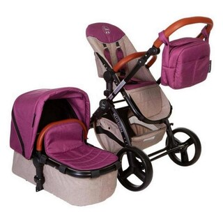 Deluxe Stroller System - Limited Edition (Option: Tan/Purple/Pink)