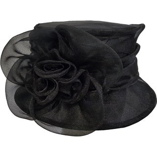 Women's Kentucky Derby Church Wedding t Organza Hat Black