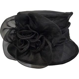 Women's Kentucky Derby Church Wedding t Organza Hat Black