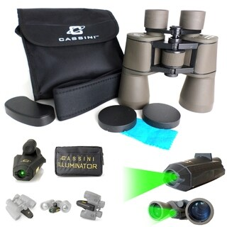 Cassini 2pc 12x50mm Binocular and Green Laser Gift Set