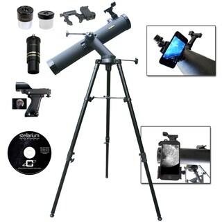 800mm x 80mm Reflector Telescope w/ SmartPhone Adapter