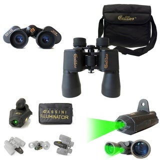 Galileo & Cassini 2pc 16x50mm Binocular and Green Laser Set