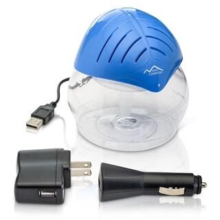 Blue Mini Desktop Water Based Air Purifier Humidifier