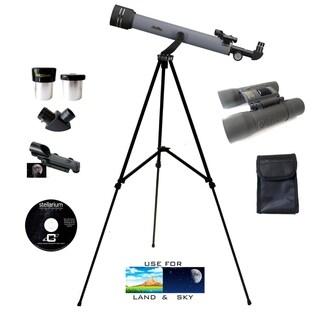 600mm x 50mm Refractor Telescope - 8x21mm Binocular Bundle