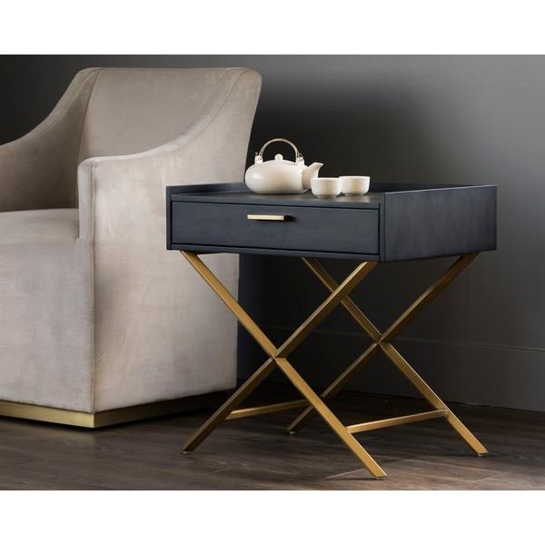 Irongate Tanana Smoked Grey End Table
