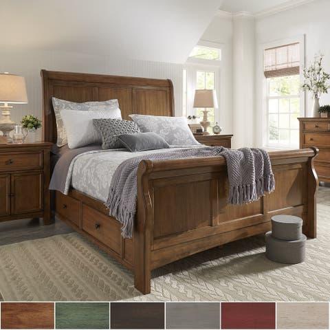 Copper Grove Lyon King-size Wood Sleigh Platform Storage Bed